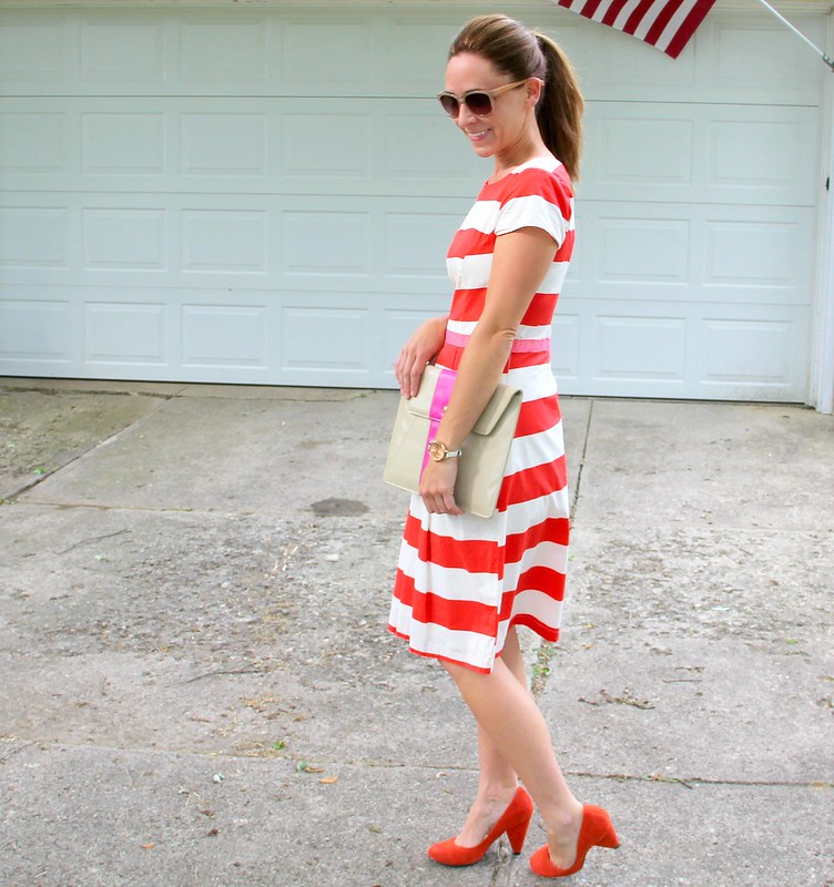 how to make an easy ribbon belt dress via Kristina J blog