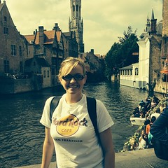 My beautiful wife before or boat cruise #Belgium #bruges