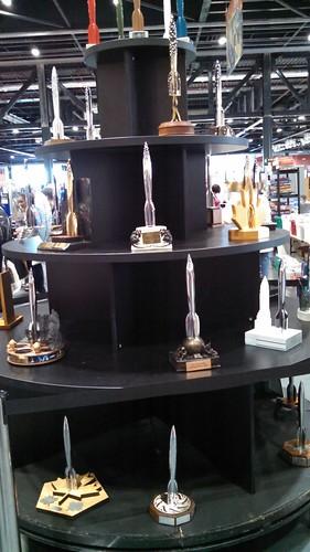 Hugo Award Trophy Display