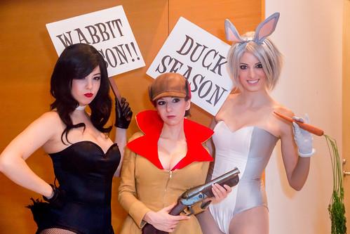Daffy, Elmer, and Bugs
