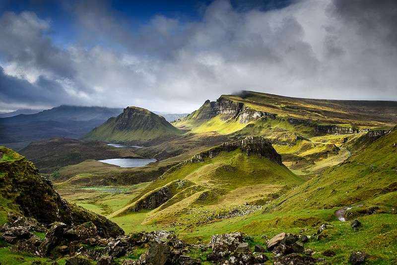 Blue is coming in Quiraing