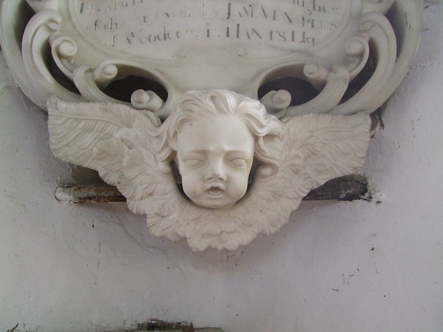 Brightling, Sussex, St Thomas a Becket, cherub