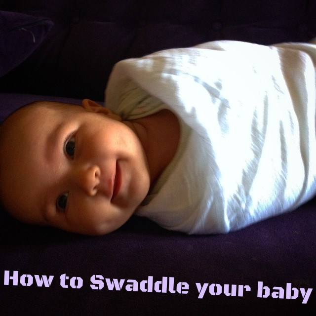 How to swaddle your infant baby newborn using gauze blanket