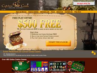 Captain Cooks Casino Home