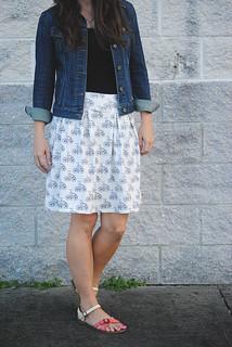 Pleated Knit Skirt Tutorial
