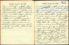 Lloyd Fuller Diary, January 30-31, 1943