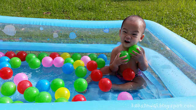 346 Days Old - In Pool with Balls