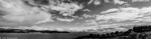 sea sky bw panorama white seascape black nature norway landscape norge sommer natur himmel kveld landskap sjø øy finnøy talgje