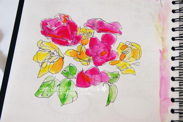 Roses appliqué