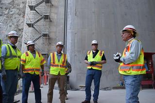 Addicks and Barker dams project team visits Folsom Dam auxiliary spillway