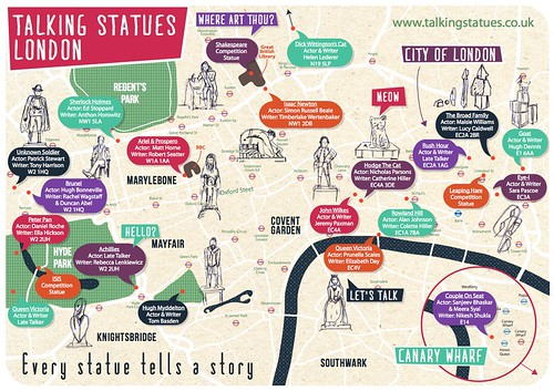TalkingStatuesLondonMap