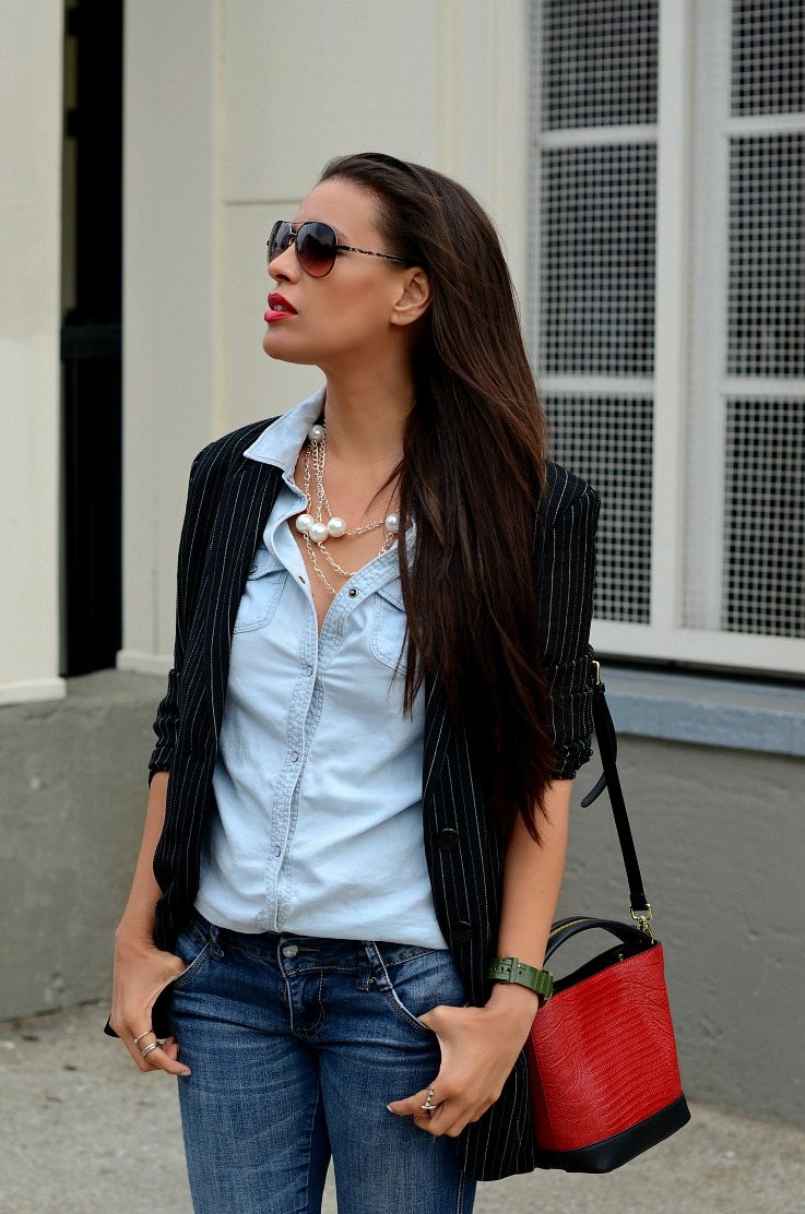 DSC_8146 Denim On Denim, Zara bag, Adidas watch