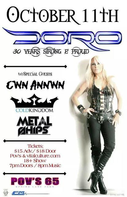 10/11/14 Doro/ Cwn Annwn/ Cold Kingdom/ Metal Ships @ Pov's 65, Spring Lake Park, MN