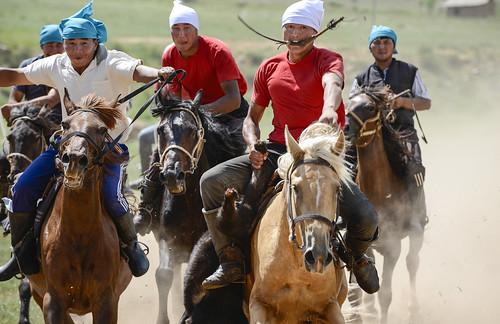 Do Kazakhs prefer goat polo (kokpar) or soccer?