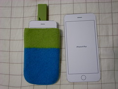 iPhone 6(型紙)とケース