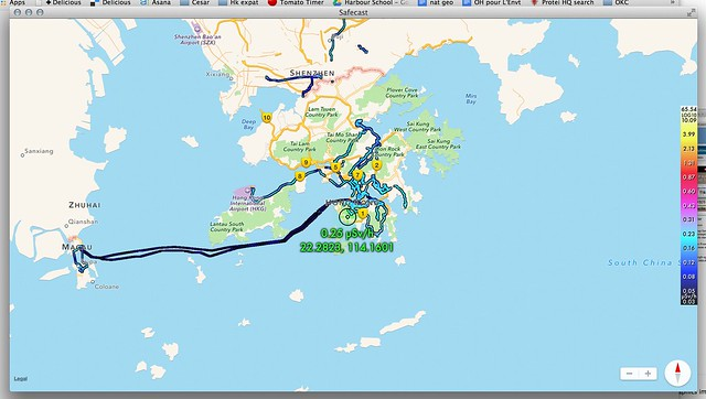 Radioactivity in Hong, Safecast Map, Mac App
