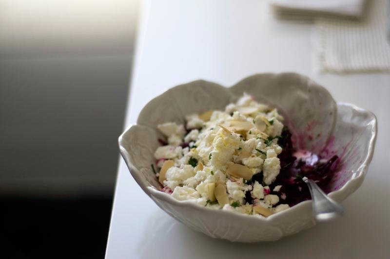 salada de beterraba e feta
