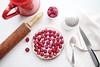 Tarte aux framboises et chocolat blanc