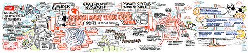 African dairy value chain seminar graphic recording: Knowledge wall (Photo credit: Matter Group)