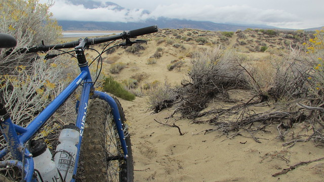 Riding the Pugsley at Washoe Lake State Park