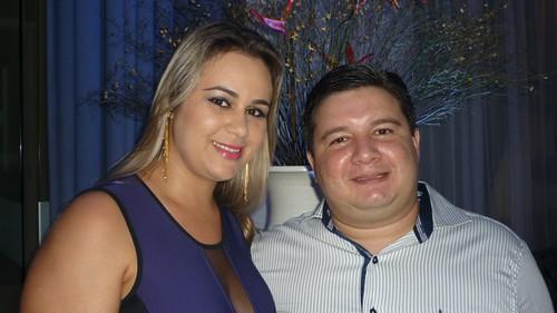 Bruno Sá e sua esposa