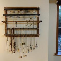 Love my new #rustic @potterybarn #jewelryorganizer!