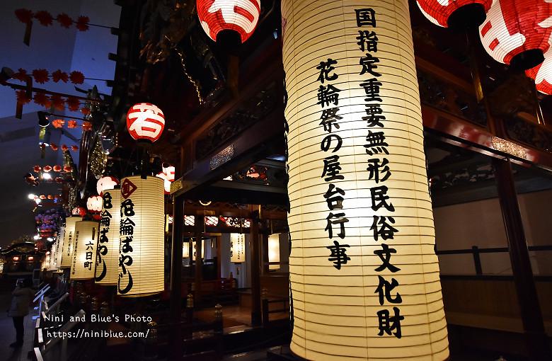 日本秋田米棒花輪囃子06