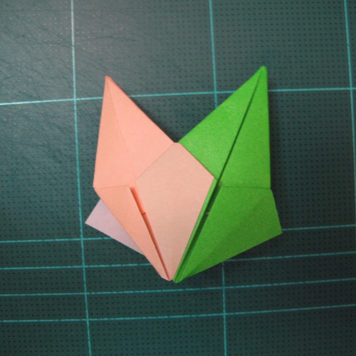 การพับกระดาษแบบโมดูล่าเป็นดาวสปาราซิส (Modular Origami Sparaxis Star) 020