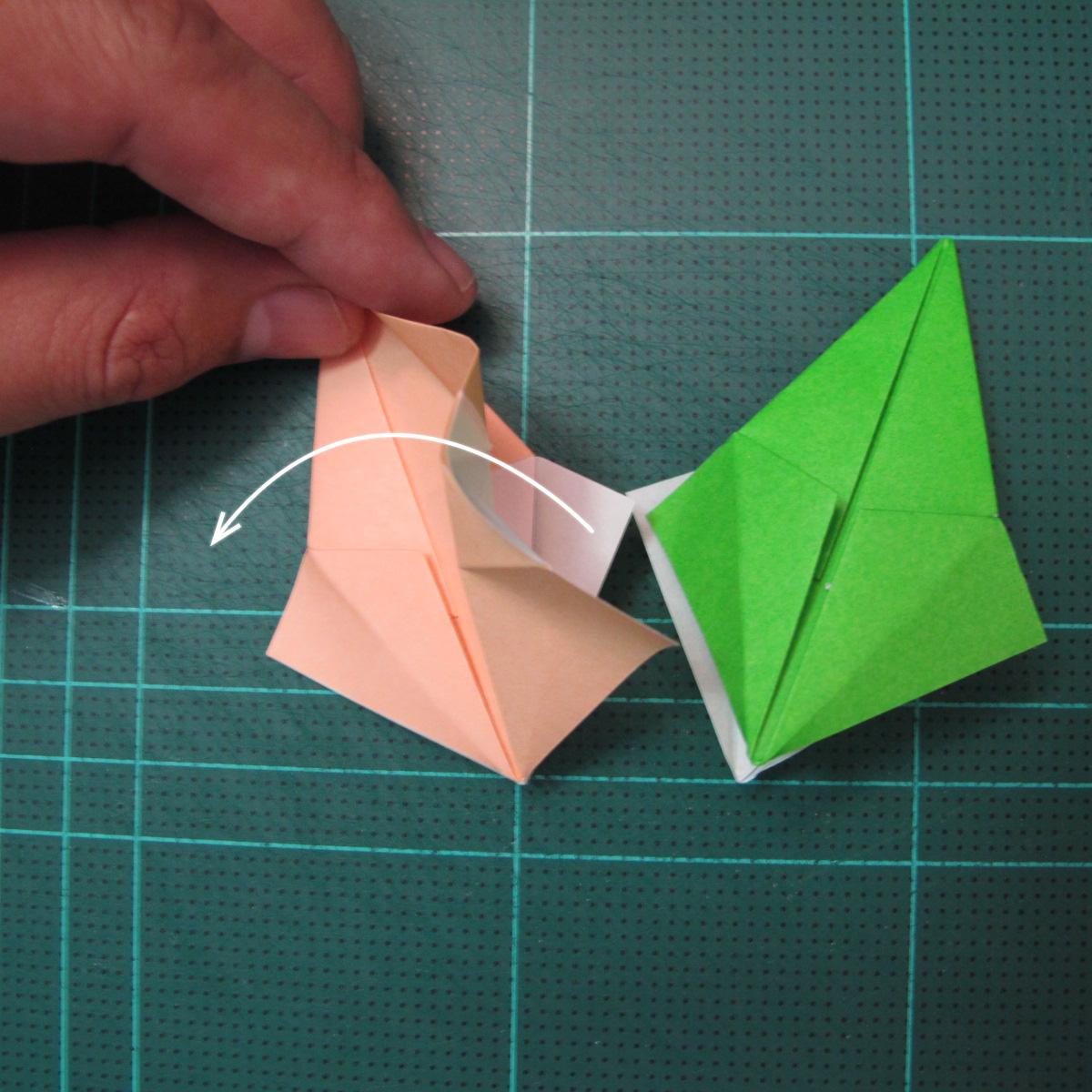 การพับกระดาษแบบโมดูล่าเป็นดาวสปาราซิส (Modular Origami Sparaxis Star) 014