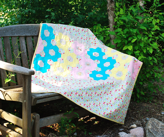 Spring Stitching Club Finished Quilt