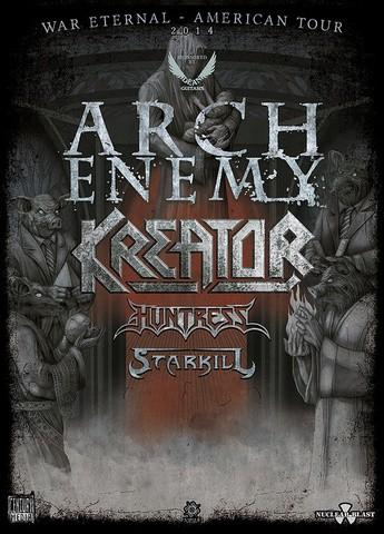 11/18/14 Arch Enemy/ Kreator/ Huntress/ Starkill @ Mill City Night, Minneapolis, MN