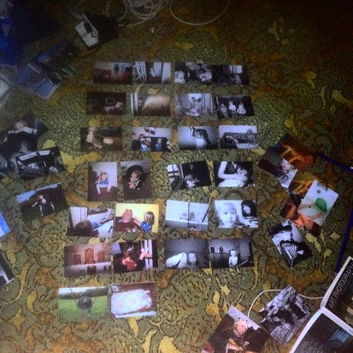 Sequencing, i've no idea how to sequence these family pics. Gonna tape them to some card and bind them somehow.