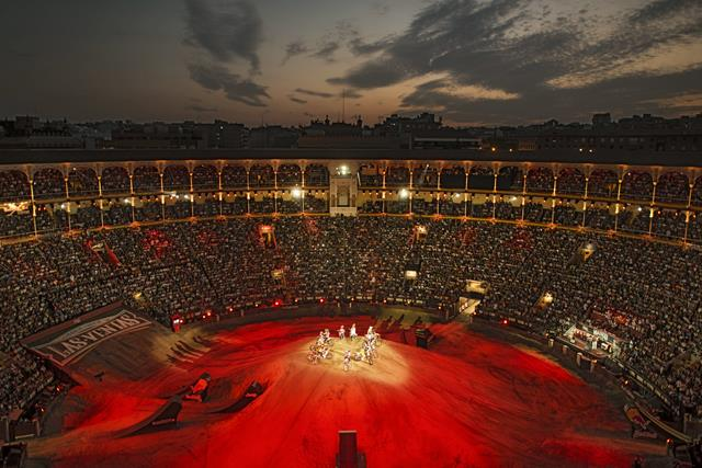 The Las Ventas Bullring seen during the finals of the Red Bull X-Fighters World Tour in Madrid, Spain on July 19th, 2013. // Jörg Mitter/Red Bull Content Pool // P-20130720-00033 // Usage for editorial use only // Please go to www.redbullcontentpool.com f