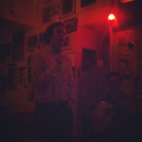 Daytime veterinarian/nighttime amateur fado singer Carlos Rodrigues in action at A Tasca do Chico, Lisbon, #portugal