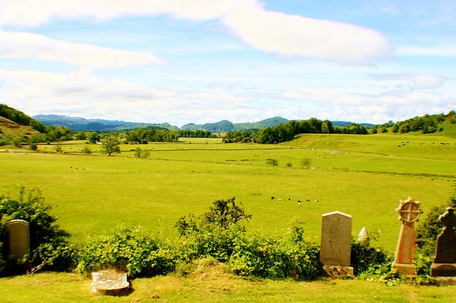 View of Kilmartin Glen from Church burial ground