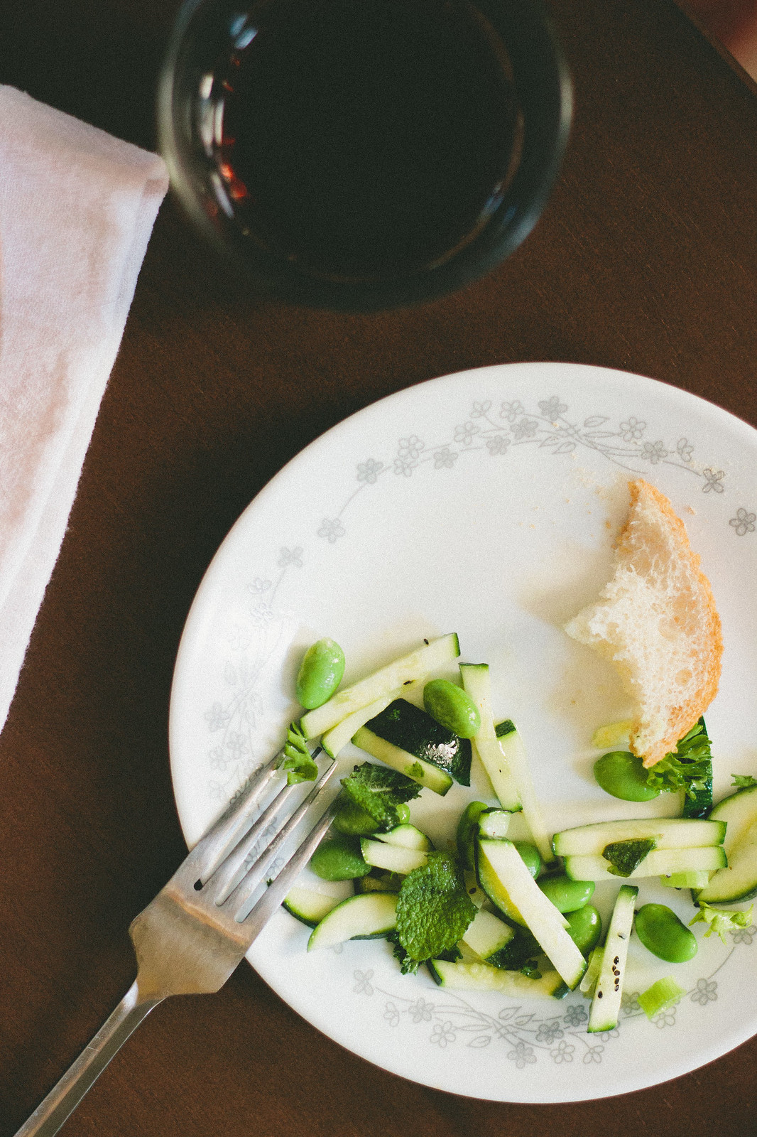 {zucchini salad with ginger white balsamic vinaigrette} via chevrons & éclairs