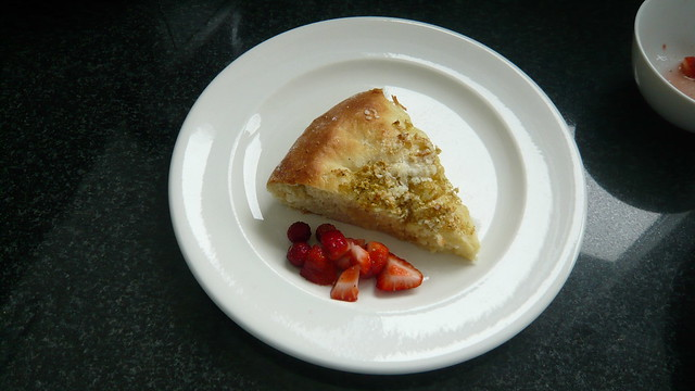 Elderflower Gateau de Vully with strawberries