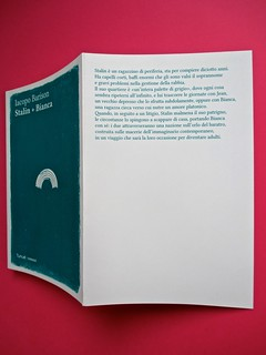 Romanzi, collana di Tunué edizioni. Progetto grafico di Tomomot; impaginazione di TunuéLab. Copertina, risvolto di copertina [Barison] (part.), 1