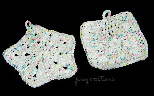 Baby Pastel Crochet Washcloths