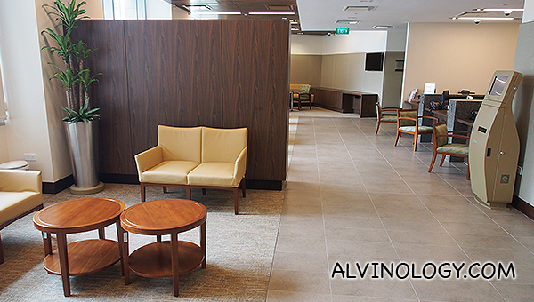 Waiting area in the operations rooms