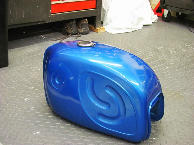 Gas Tank Polished