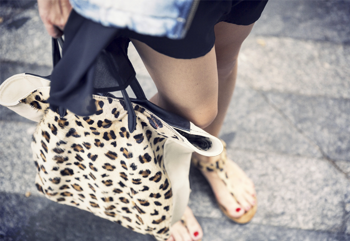 street style barbara crespo feline animal print fashion blogger outfit blog de moda