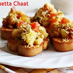 Aloo Channa chaat Bruschetta