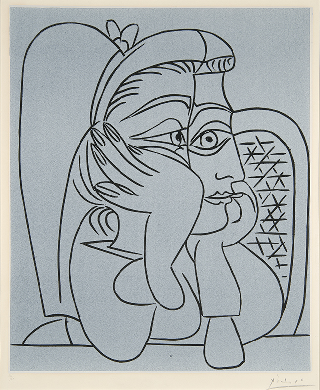 Pablo Picasso, Femme Accoude?e (Woman Leaning)