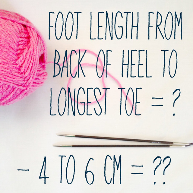 Some sock maths to work out heel placement