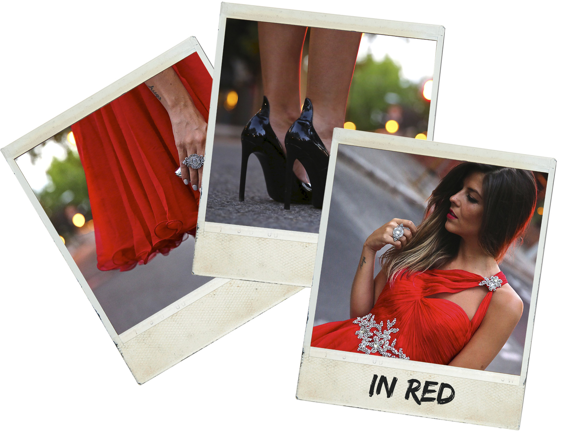 trendy_taste-look-outfit-street_style-ootd-blog-blogger-fashion_spain-moda_españa-red_dress-vestido_rojo-pedreria-coctel-cocktail-boda-wedding-chupa_cuero-leather_jacket-saint_laurent-polaroid