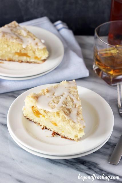 Bourbon Peach Pound Cake | beyondfrosting.com | #bourbon #peaches