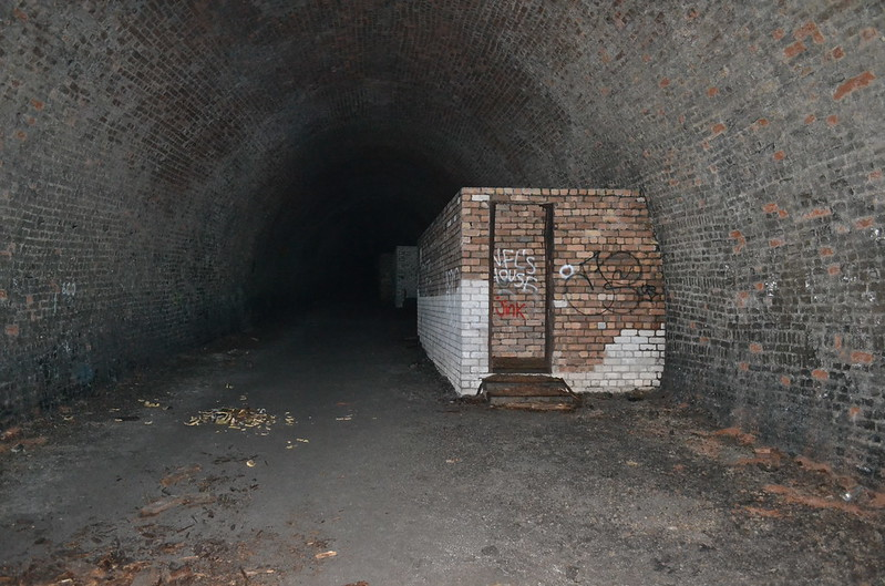 Old toilet blocks in Scotland Street Tunnel