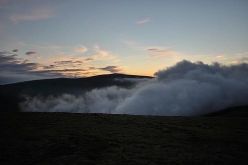 Mist fills Glen Diridh