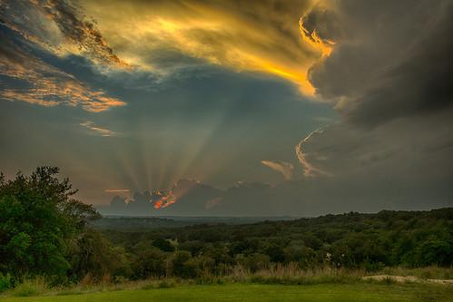 sunset clouds sonnenuntergang wolken harper beams hdr strahlen